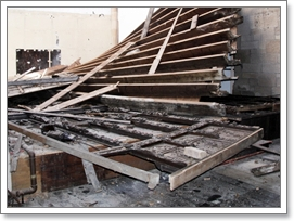 Roof collapse because of rot in roofline image