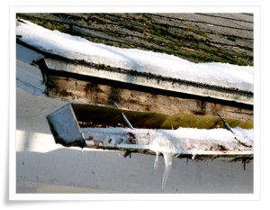 snow pulling down gutter